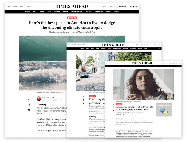 Page Builder - Ahead